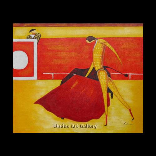 The Bullfighter Modern Oil Painting