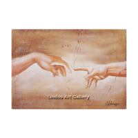 Creation Two Hands Oil Painting