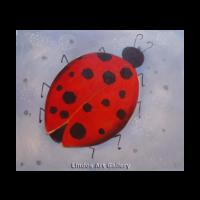 Ladybug Cute Modern Painting
