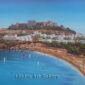 Lindos Acropolis and Blue Sky Painting