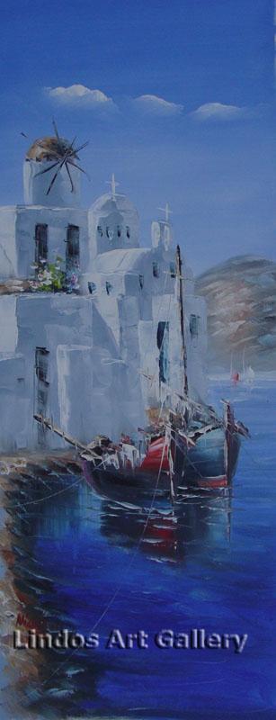 Paros Island Fishing Boats Painting