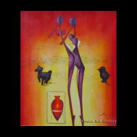 Purple Figures Modern Painting
