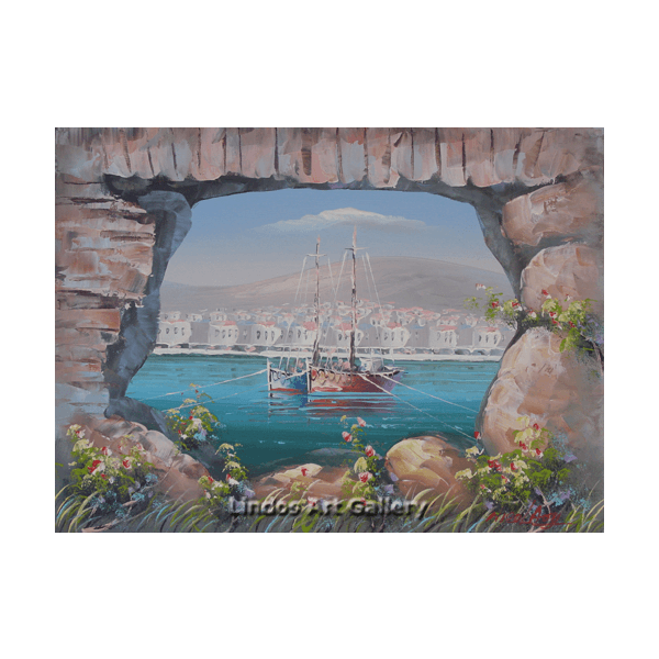 View of the Harbour Oil Painting
