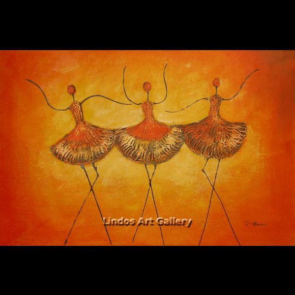 Ballerina Textured Oil Painting