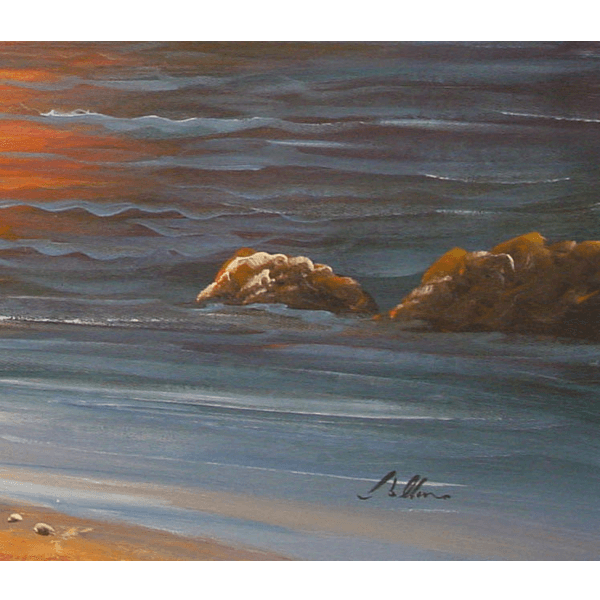 Boat in Sea Oil Painting