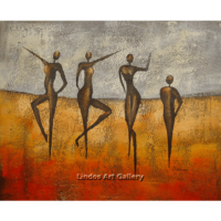 Dancing Figures Modern Painting
