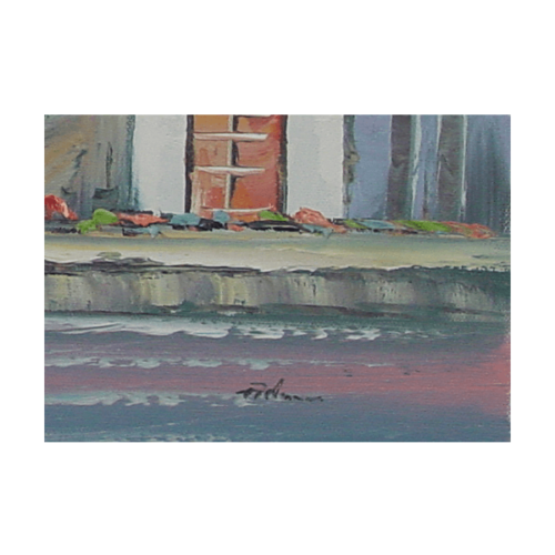 Fishing Boats in Harbour Painting