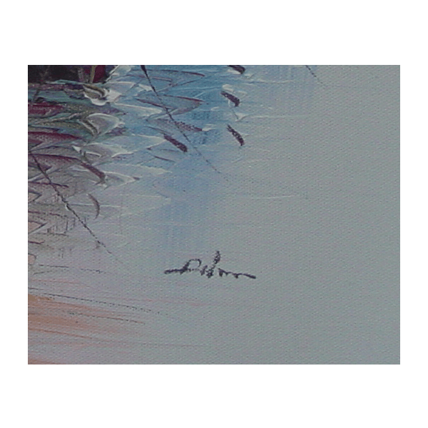 Boats in Sea Oil Painting