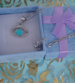 Evil Eye Necklace Sterling Silver 925