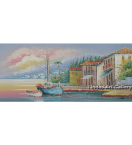 Fishing Boats by the Sea Painting