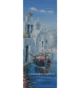Fishing Boats Paros oil Painting