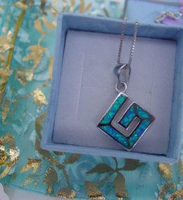 Greek Key Necklace Silver 925
