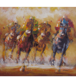 Racing Horses Oil Painting
