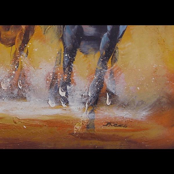 Racing Horses Oil Painting