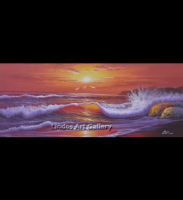 Crashing Waves Seascape Oil Painting