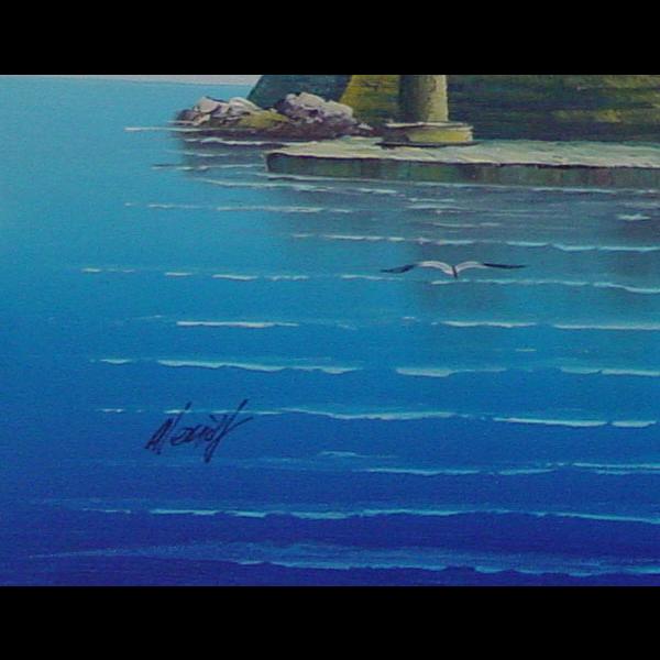 Rhodes Deer Oil Painting