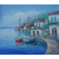 Two Boats in Harbour Oil Painting