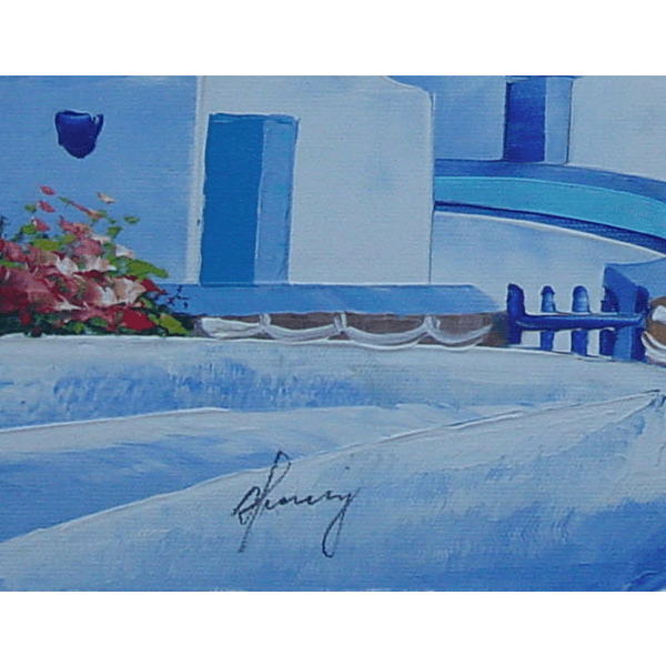 Windmill Sunset Oil Painting