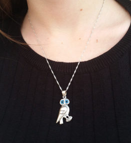 Owl of Athena Necklace