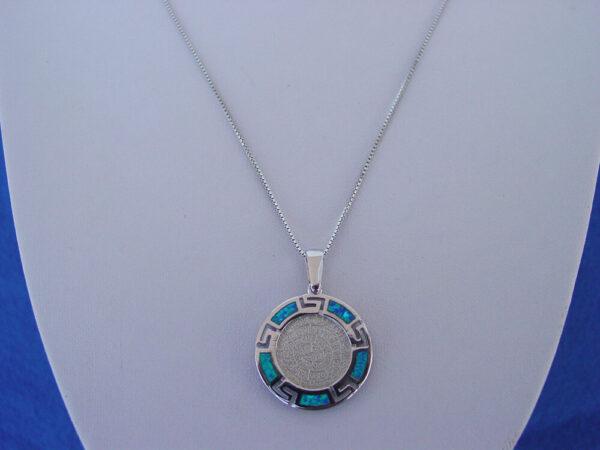 Phaistos Disc Meandros Necklace