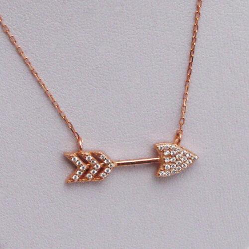 Arrow Rose Gold Necklace