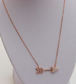 Arrow Rose Gold Necklace