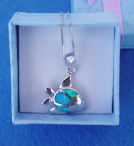 Blue Fish Necklace