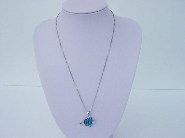 Blue Fish Necklace