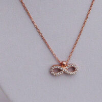 Infinity Rose Gold Necklace