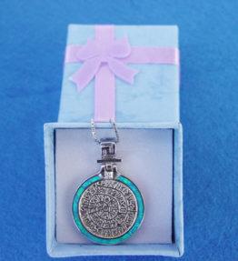 Phaistos Disc Blue Necklace