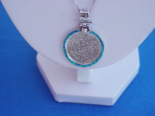 Greek Disc of Phaistos Necklace