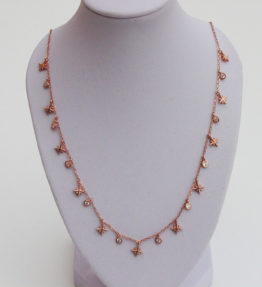 Stars and Zircons Necklace