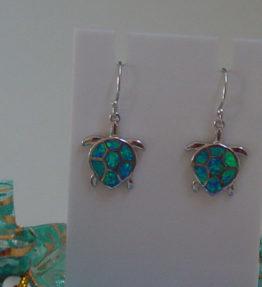 Turtle Silver Earrings
