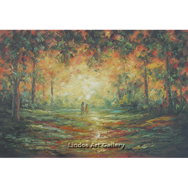 Walk in the Forest Oil Painting