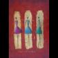 Modern Ladies Ballerinas Oil Painting