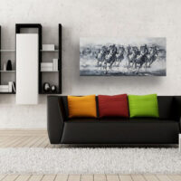 Racing Horses with Jockeys Oil Painting
