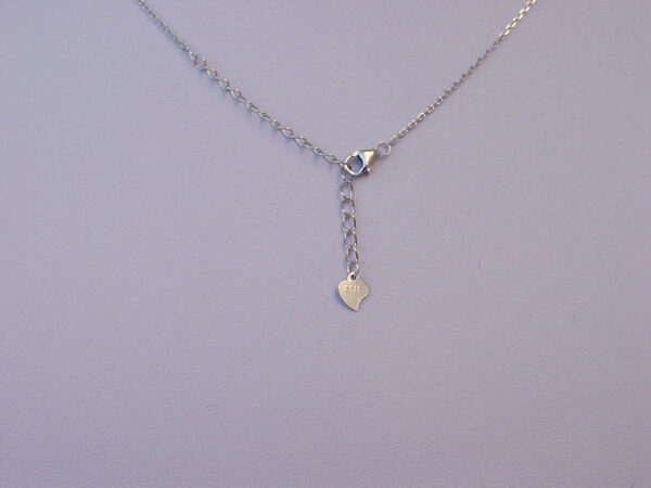 Silver Star Round Necklace Sterling 925