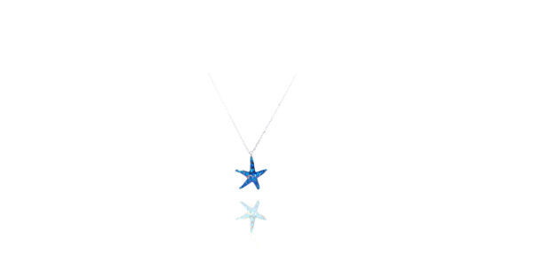 Blue Starfish Sterling Silver 925 Necklace
