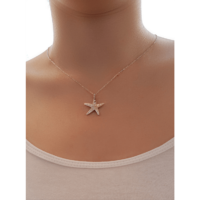 White Starfish Sterling Silver 925 Necklace