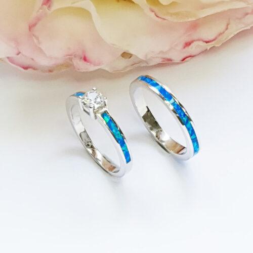 Blue Opal Band Set