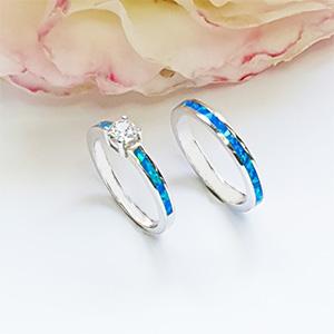 Blue Opal Rings