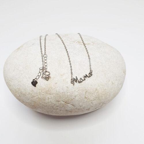 Mama Silver Necklace
