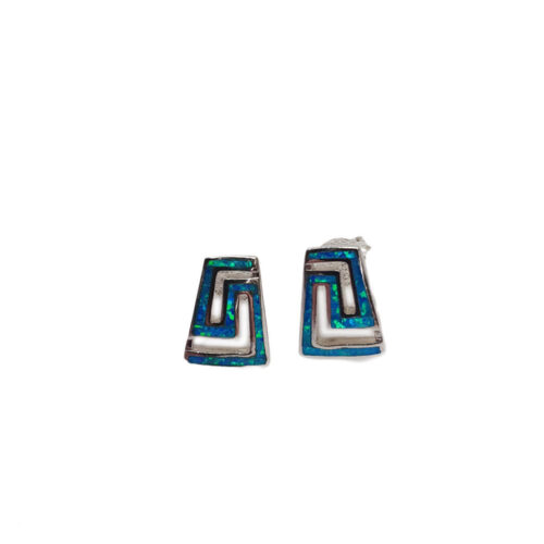 Greek Key Meandros Earrings