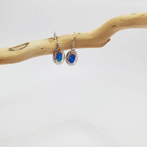 Greek Key Earrings Silver