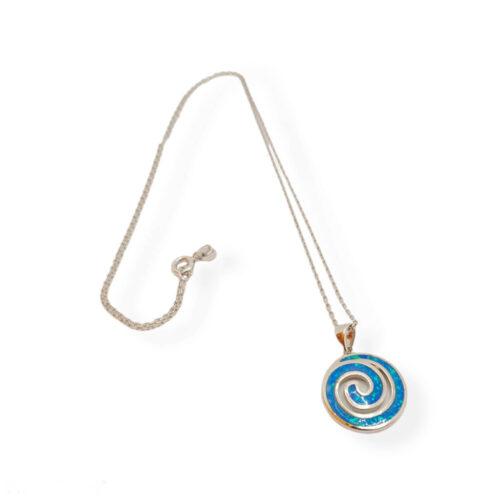 Greek Speira Blue Opal necklace